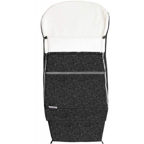 Emitex śpiworek do wózka combi extra, czarny/biały (8595624428672)