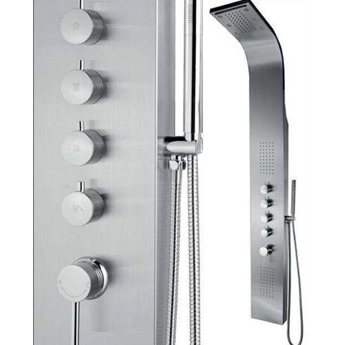 Panel prysznicowy z hydromasażem i oświetleniem in-8839l marki Inea