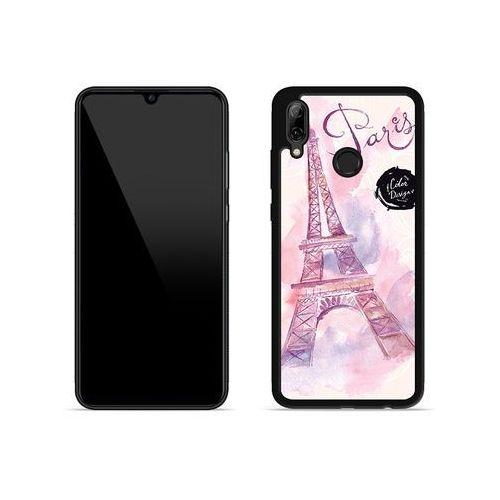 Huawei p smart (2019) - etui na telefon aluminum fantastic - różowa wieża eiffla marki Etuo aluminum fantastic