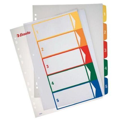 Przekładki 1-5 do nadruku tekstu na kartę plastikowe ESSELTE numeryczne - X02734, NB-5501