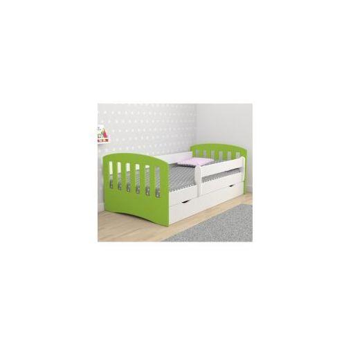 Łóżko 160x80 z szufladą i materacem CLASSIC MIX, biało-zielone, 20170622075214