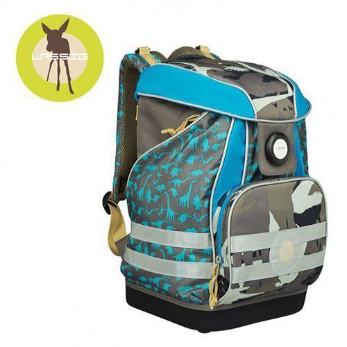 plecak szkolny xl ze sztywnymi plecami, i wodoodpornym dnem dino slate marki Lassig