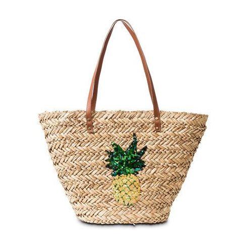 """Bonprix Torba plażowa shopper """"ananas"""" naturalny"""