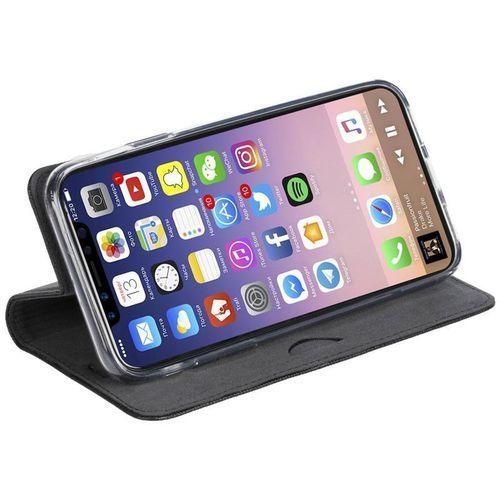 Krusell Malmo 4 Card Foliocase - Etui iPhone X z kieszeniami na karty + stand up (czarny), kolor czarny