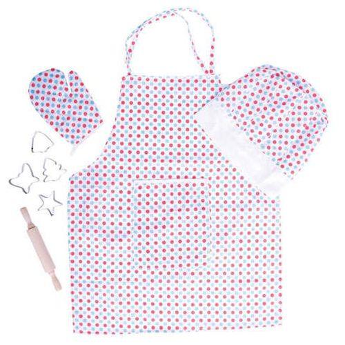 Bigjigs toys Fartuch kuchenny dla dzieci - w kropki