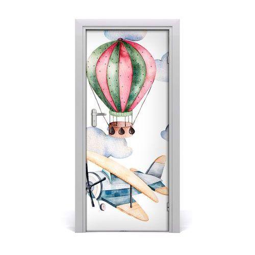 Naklejka samoprzylepna na drzwi Balony i samoloty