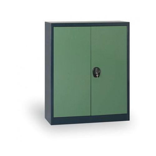 Szafa metalowa, 1150x1200x400 mm, 2 półki, antracyt/zielony marki Alfa 3