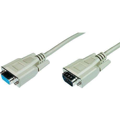 Przedłużacz VGA Digitus AK-310200-050-E, [1x złącze męskie VGA - 1x złącze żeńskie VGA], 5 m, szary