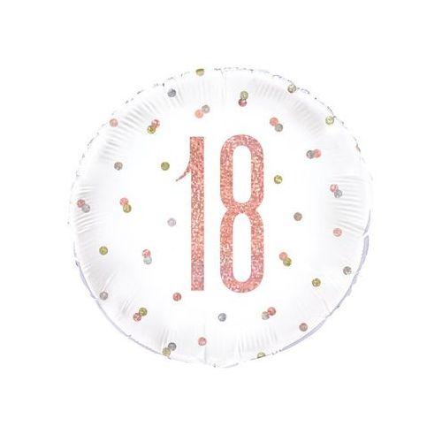 Balon foliowy różowe złoto - 18 - 46 cm - 1 szt.