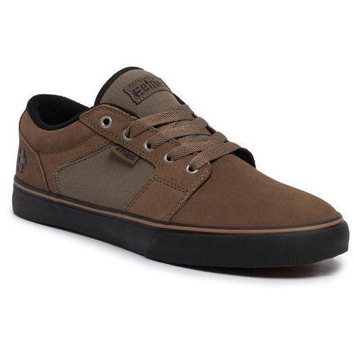 Tenisówki ETNIES - Barge Ls 4101000351 Olive/Black/Gum 303, kolor brązowy