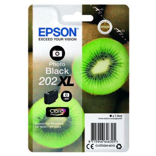 Epson Oryginalny atrament 202xl [c13t02h14010] photo black