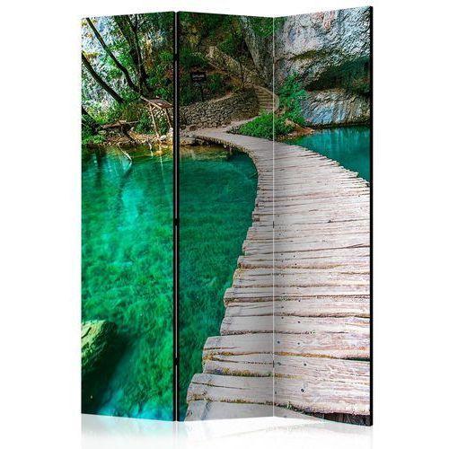 Parawan 3-częściowy - park narodowy, jeziora plitwickie, chorwacja [room dividers] marki Artgeist