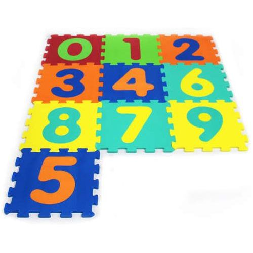 Puzzle piankowe 10 elementów 0-9 cyfry