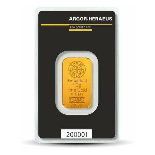 Argor-heraeus, pamp, perth mint 10 g sztabka złota - 15dni
