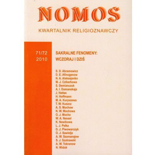 Kwartalnik religioznawczy Nr 71/72 2010 (254 str.)