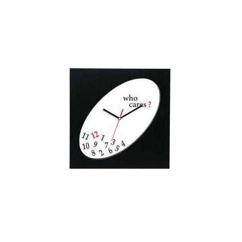 Zegar kwadratowy elipsa czarny who cares?, kolor czarny