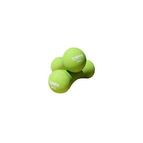 hantle neoprenowe- limonka, 3 kg, 1 sztuka - limonkowy \ 3 kg marki Tsr