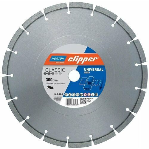 NORTON CLIPPER Classic Universal Laser 300mm/20mm 10/2,5 TARCZA DIAMENTOWA 70184626839 (5450248353461)