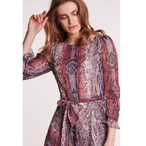 153180b397 Gapa fashion Kolorowa sukienka w wężowy wzór