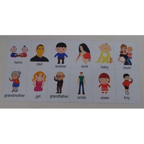 OKAZJA - Bystra sowa Ludzie / rodzina karty edukacyjne - wersja w j. angielskim