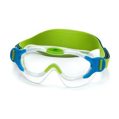 Speedo Maska do pływania  sea squad dziecięca 8087638029 - niebiesko-zielony (5051746893338)