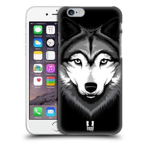 Head case Etui plastikowe na telefon - big face illustrated grey wolf