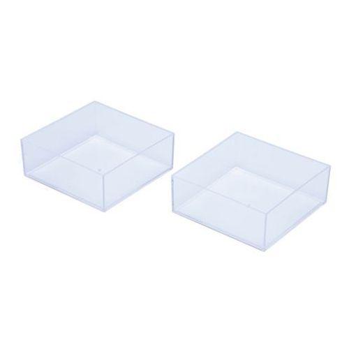 Organizer niski transparentny z szufladami 2 szt., 1205185