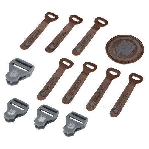 Coocazoo MatchPatch Leather Grey Melange zestaw elementów wymiennych - brązowy ||szary (4047443342294)