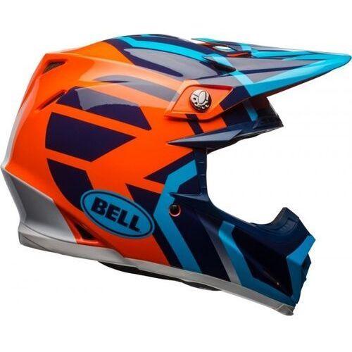 Bell_sale Bell moto-9 mips district blue/orange kask off-road