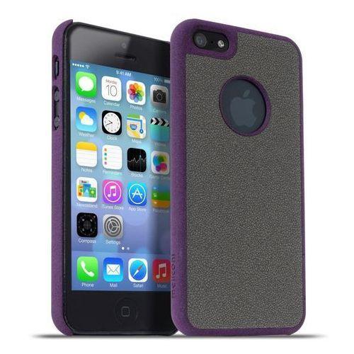 Meliconi Etui Stone iPhone 5/5s Purple Wine/Grey (8006023204649) Darmowy odbiór w 20 miastach! (Futerał telefoniczny)