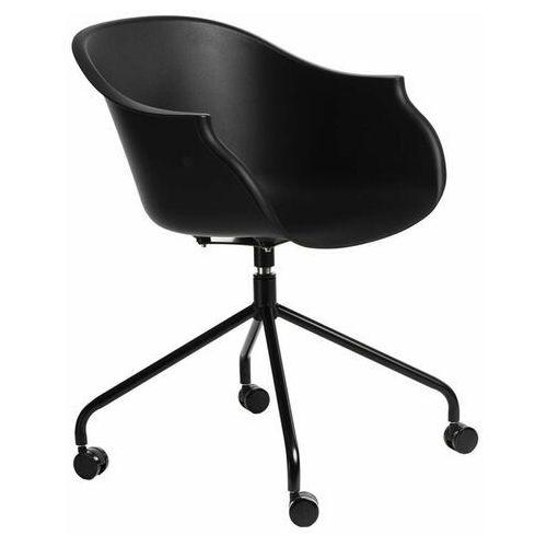 Krzesło na kółkach Roundy czarne - D2 Design - Zapytaj o rabat!, kolor czarny