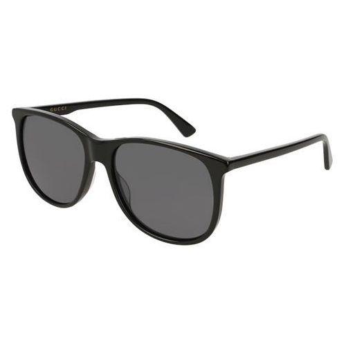 Okulary Słoneczne Gucci GG 0261SA Asain Fit 001, kolor żółty