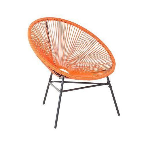 Beliani Krzesło ogrodowe pomarańczowe acapulco (4260586354140)