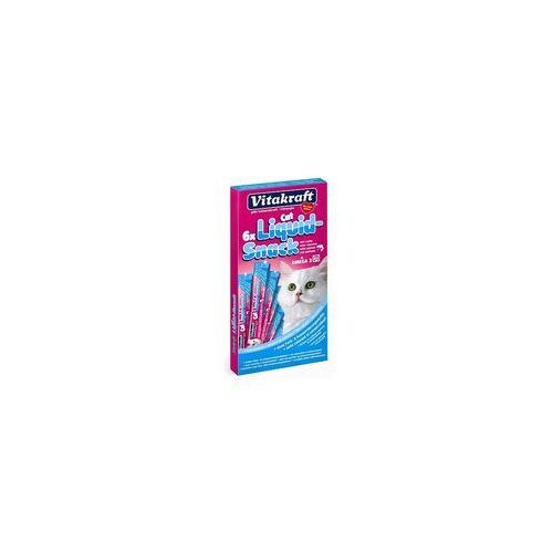 VITAKRAFT Cat Liquid Snack - przysmak dla kota smak: łosoś, omega 3 6szt.