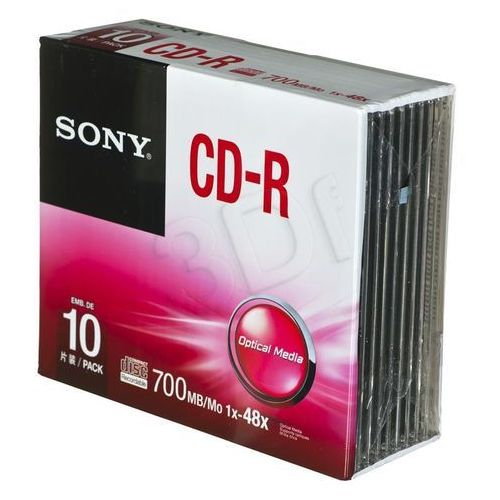 Sony Płyty cd-r sony 700mb 48x - case - 10szt.