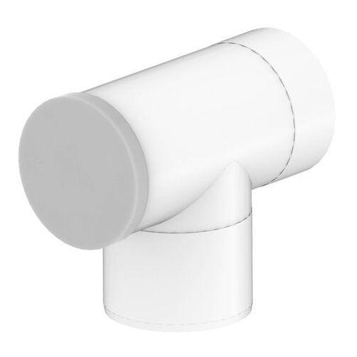 Trójnik 2-ścienny z deklem 60/100 biały marki Spiroflex