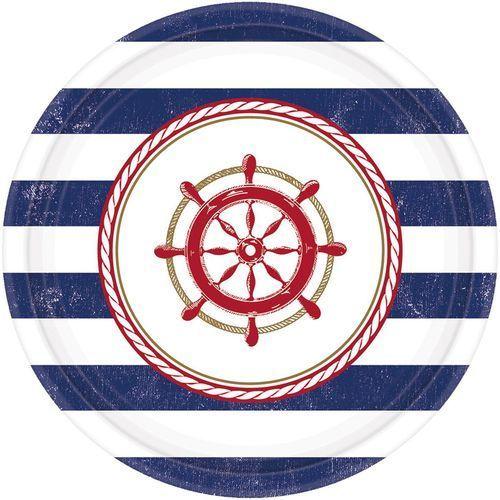 Talerzyki okrągłe Marynarskie 8szt