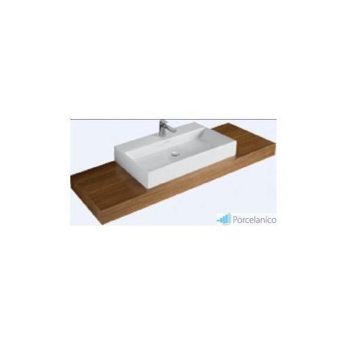 Villeroy&boch V&b memento, blat umywalkowy, 1300 x 110 x 525 mm, umywalka po srodku, amazakue a26503ct (4022693887436)