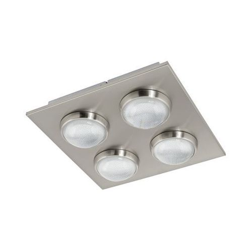 Plafon LAMPA sufitowa LOMBES 94298 Eglo metalowa OPRAWA kwadratowa LED 18W satyna (9002759942984)