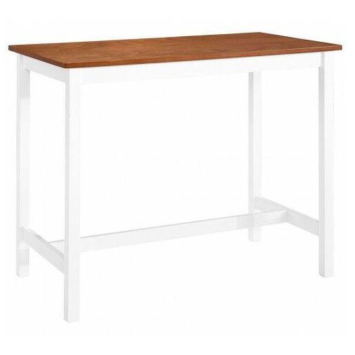 Drewniany stolik barowy 108x60x – peggy marki Elior