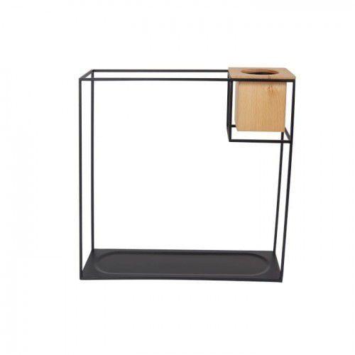 Półka z kwietnikiem duża cubist czarna marki Umbra