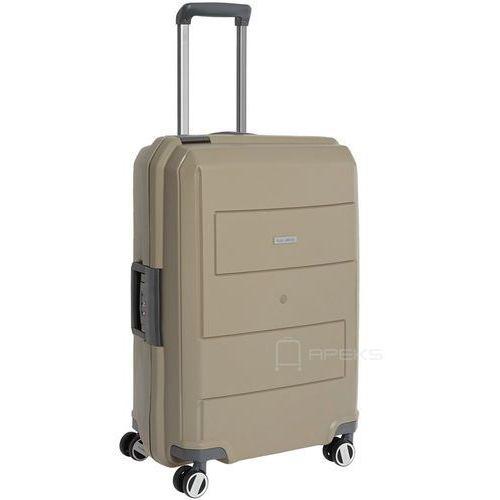 Travelite makro średnia walizka na kółkach 66 cm / beżowa - beżowy (4027002063747)