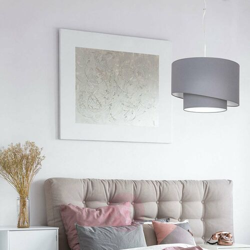 Lampa wisząca Luminex Shade 1 7004 zwis 1x60W E27 szara