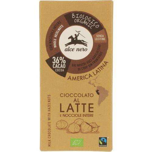 Alce nero : czekolada mleczna z orzechami bio - 100 g