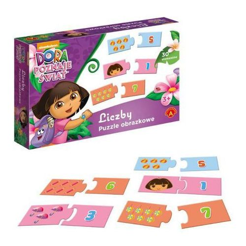 Puzzle - Liczby. Dora poznaje świat ALEX, AM_5906018008500