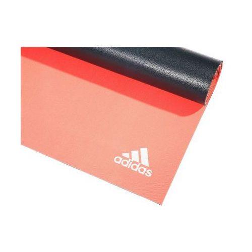 6mm dbl side yoga mat, fl red / dark grey, marki Adidas
