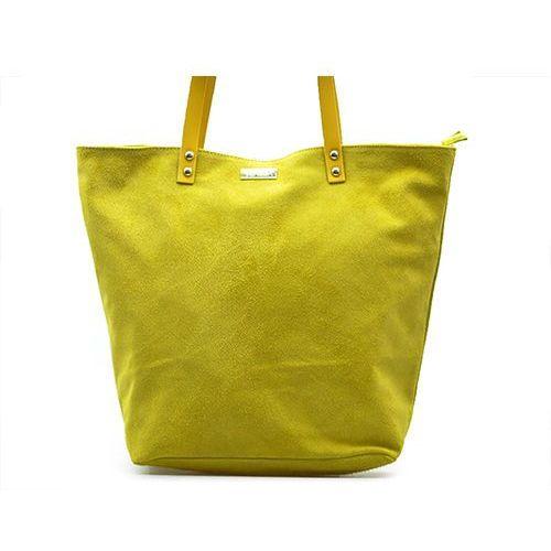 Venezia Torebka 66-643-n gial żółte zamsz