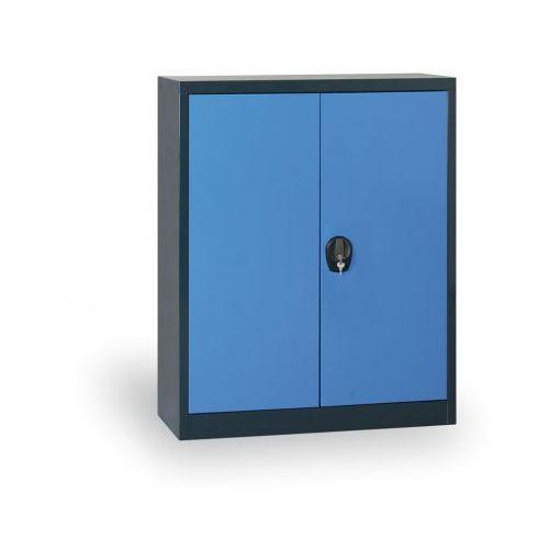 Szafa metalowa, 1150x800x400 mm, 2 półki, antracyt/niebieski marki Alfa 3