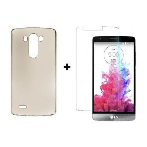 Zestaw Obudowa Ultra Slim Dymiona + Szkło ochronne Perfect Glass LG G3S / LG G3 Mini