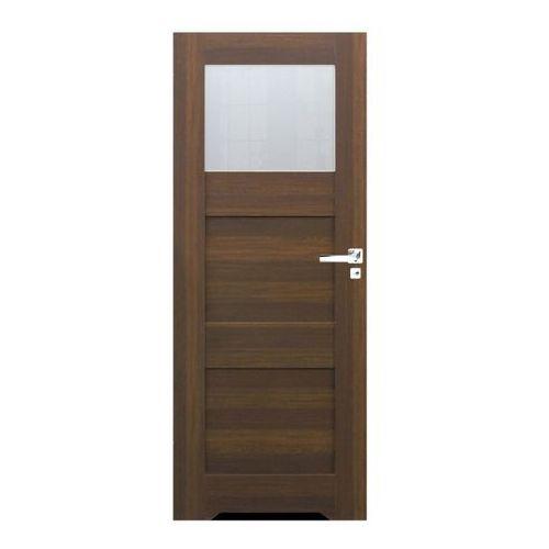 Drzwi z podcięciem do WC Tre 60 lewe orzech north, TREOR000001